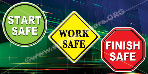 workplace safety banners for industry