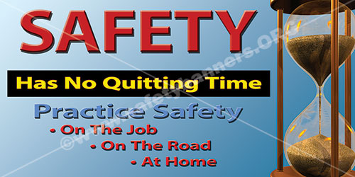Industrial safety banners