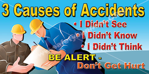 Custom safety banners for preventing accidents