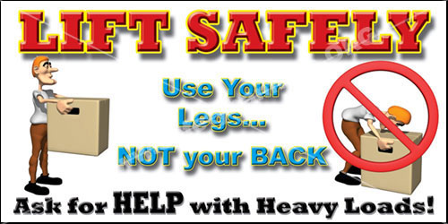 Lifting safety #1021 safety banners