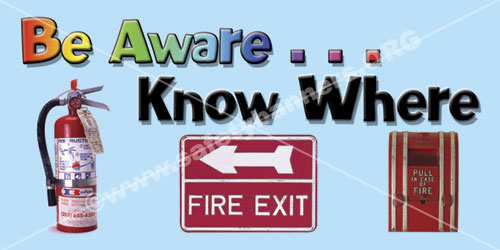 Fire Safety #1041 safety banner