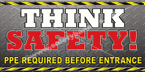Think Safety #1108 safety banner