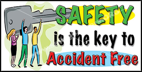 Safety is the Key #1114 safety banner