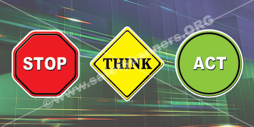 Stop Think Act workplace Safety banner