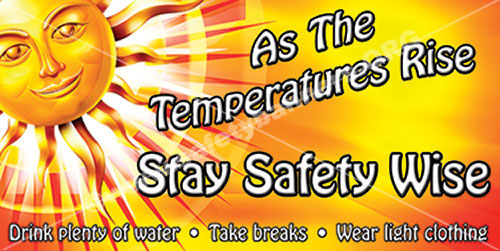 Heat Stress Heat Stroke workplace safety banner item 1097