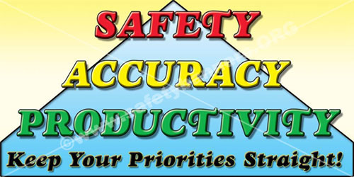Safety Accuracy Productivity Safety Banner Item 1049