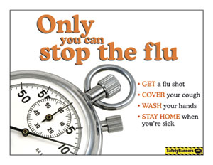 Flu Only You Stop the Flu Poster