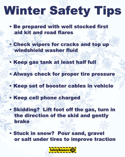 Winter Driving Tips B