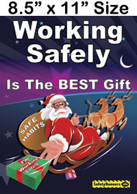 Working Safely Poster Santa