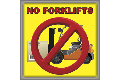 No forklifts safety sticker floor decal for industry number 7244 L