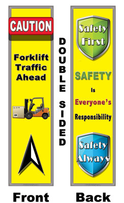 80130 caution forklift traffic ahead