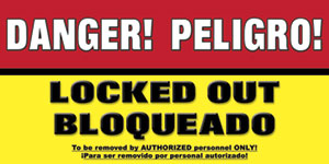 Lockout Tagout Spanish Safety Banner Spanish Lockout Item 2056