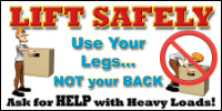 Safety Banners Product Number 1021