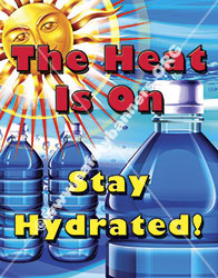 Safety Poster heat stress heat stroke number1200