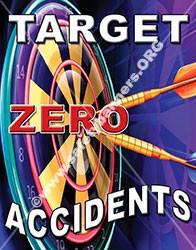 Target Zero Accidents Safety Poster Item 1071