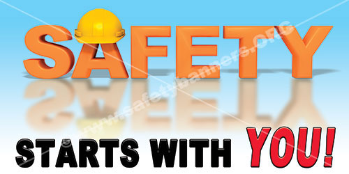 Safety Starts With You Hard Hat safety banner item1343