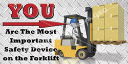 1204 forklift safety banner