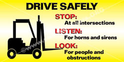 1308 Forklift Safety Banner