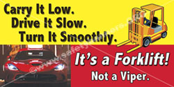 Forklift Safety Banner 1202