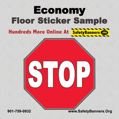 ECONOMY   4x4 Floor Sticker Sample   4p