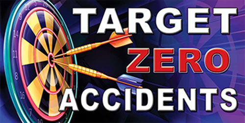 Target Zero Accidents safety banner item number 1071