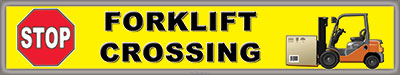 Warehouse Safety Floor Sticker Forklift Crossing Item 660080