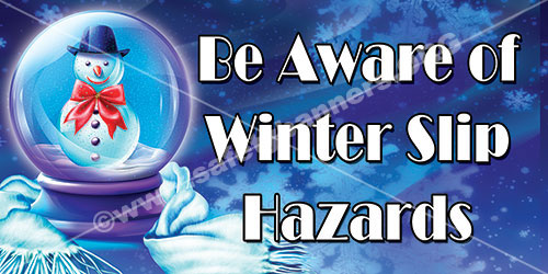Winter hazards safety banner - 1089