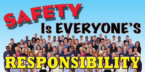 Safety Is The Responsibility Of Everyone Safety Banner Item 11663