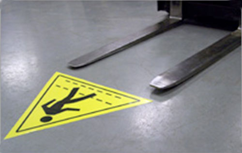 Forklift Pedestrian Crossing safety floor sticker item 6465