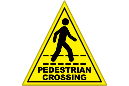 Pedestrian Crossing safety floor sticker item 6460