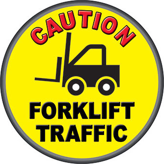 Forklift Safety Floor Sticker 6535