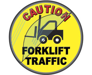 Safety Floor Sticker Forklift Tough item 6535