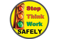 start safe safety floor sticker decal item 6508