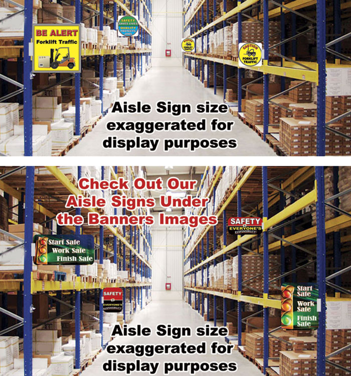 Floor Stickers Aisle Signs