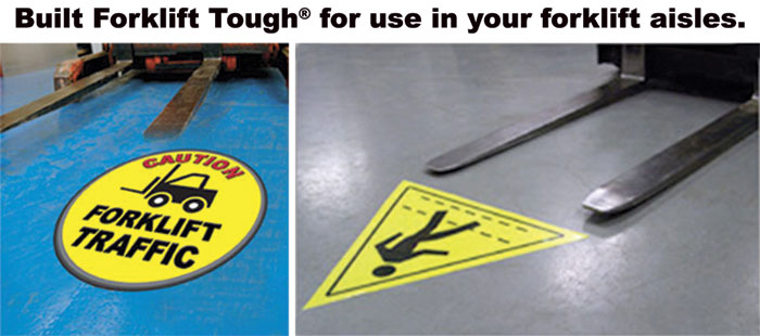 Floor Stickers Forklift Tough