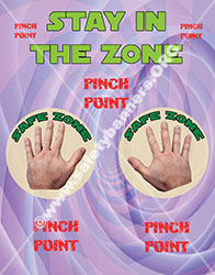 Stay in the Zone Hand Safety banner
