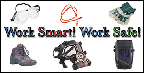Work Smart Work Safe PPE workplace safety banner