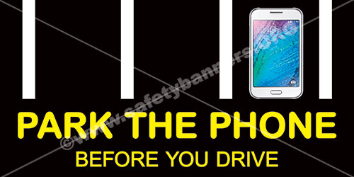park the phone before you drive, cellphone. driving,