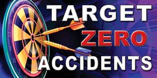 Safety Banner 1071 TARGET Zero Accidents