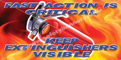 Fast Action Fire Safety Banner Item 1138