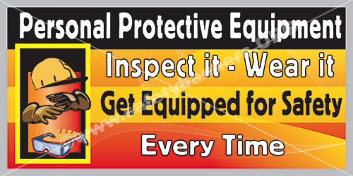 PPE safety banner 1063