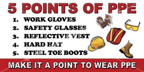 PPE safety banner 1179