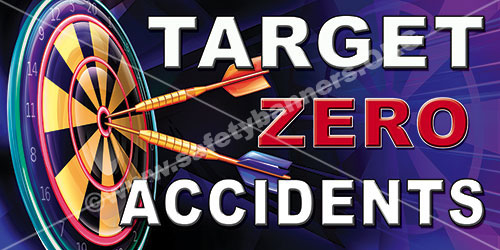 Target Zero Accidents industrial safety banner item 1071