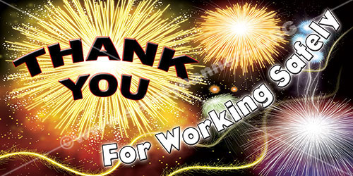 Thank You For Working Safely  Workplace Safety Banner Item 1293