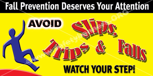 Slips Trips Falls Safety Banner 1119